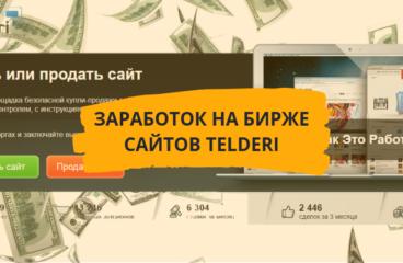 Заработок на бирже сайтов «Телдери»